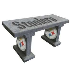Steelers Hand Painted Concrete Garden Bench Sports & Outdoors