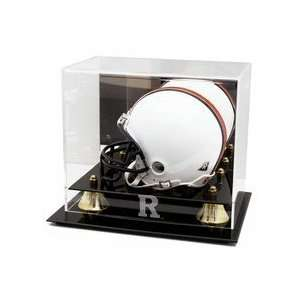 Football Helmet Display Case with Rutgers Scarlet Knights Logo Sports