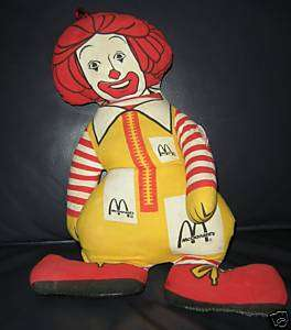 Ronald McDonald Stuffed Vintage Advertising doll