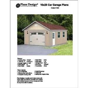 16 X 28 Car Garage/workshop Project Plans  Design #51628