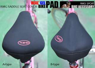 RMG] Bike Saddle Seat Cover Real Gel Padded Filled  B