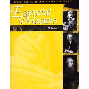 Essential Composer Series for Piano) Beethoven, Mozert Bach Books