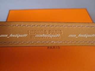Auth HERMES Rivale Double Bracelet Mykonos Blue Silver Hardware Rare