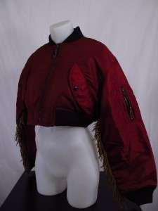Adidas Jeremy Scott ObyO Fringe Bomber Jacket L LARGE RARE Originals $
