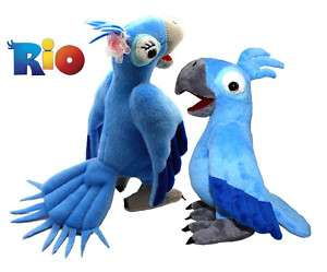 Movie *Rio* Figure Blu & Jewel Bird Plush Toy 8 9 Set