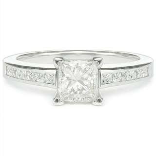 00 ct F SI1 PRINCESS CUT DIAMOND ENGAGEMENT RING WG