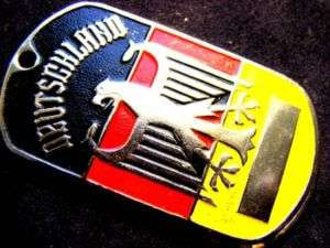 GERMAN EAGLE ARMY DEUTSCHLAND FLAG DOG TAG PENDANT RARE
