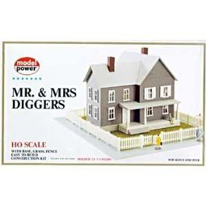 Power HO Scale Mr. & Mrs. Diggers House Building Kit Toys & Games
