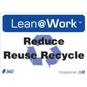 Recycle Symbol, 14 Width x 10 Length, Recycled Plastic, Black/Blue