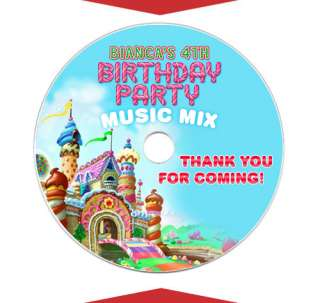 CANDYLAND Birthday Party Favor CD DVD LABELS
