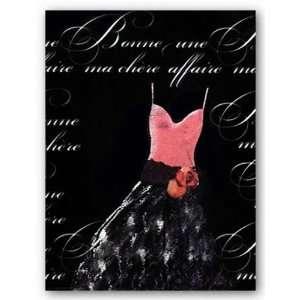Robe de Soiree Rose avec le Corsage 16x12 Art Print