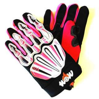 Motocross MX ATV Dirt Bike Racing Textile Gloves Pink XS XXL