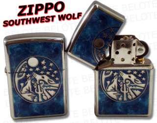 Zippo Lighters SOUTHWEST WOLF Chrome Lighter 24941 NEW