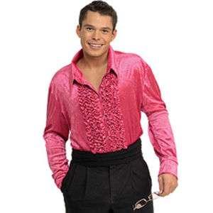 Velvet Disco Shirt 70s Mens Adult Costume 4 COLORS