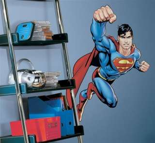 New Large SUPERMAN WALL DECALS DC Comics Stickers Decor Super Hero