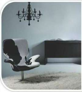 LARGE BLACK CHANDELIER   Removable Wall Sticker Feature