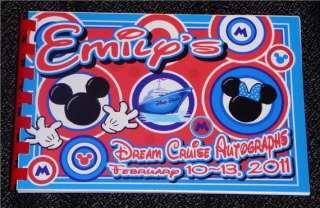 Disney MICKEY & MINNIE CRUISE Autograph Book/Bag/Pen