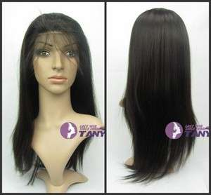 Silky Straight 18 _100% Indian Remy Human Hair Full Lace / Lace