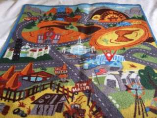 DISNEY PIXAR CARS 2 RACETRACK GAME RUG 31.5 x 44 $40