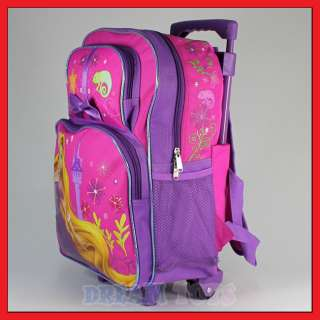 16 Disney Tangled Rapunzel Rolling Backpack Roller Bag