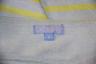 Cute J. MCLAUGHLIN Blue Green Striped SWEATER BLOUSE SHIRT TOP S