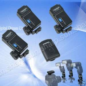 PT 04 TM Wireless Flash Trigger set with 3 receivers