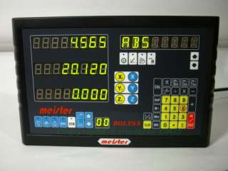 Meister BOLTS3 3 Axis Mill DRO Digital Readout Scales |