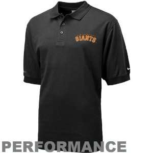 Nike San Francisco Giants Black Dri Fit Text Polo