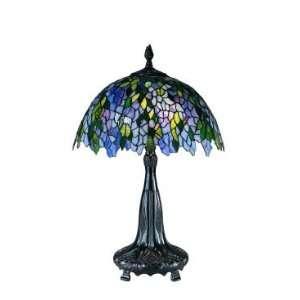 Dale Tiffany Wisteria Table Lamp in Antique Bronze Finish