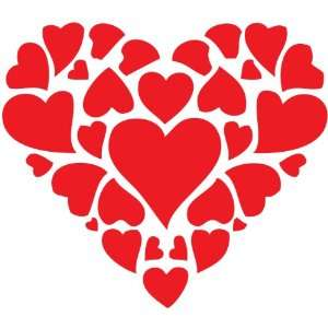 A Hearts Collage   Vinyl Wall Decal