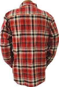44 Mens ECKO UNLTD. Red PLAID Cotton FLANNEL Shirt XL