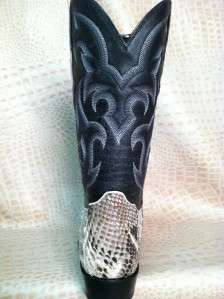 New 2012 Mens Genuine Natural Python Snake Skin Leather Cowboy Boots