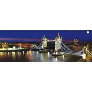 London Bridge Skyline Panoramic Cityscape Travel Photography Poster