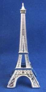 EIFFEL TOWER Small Table Shelf ACCENT DECOR Silver Metal Figurine