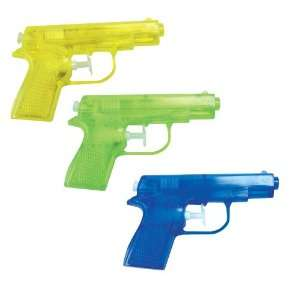Water Gun (package of 12)   Red, Blue & Yellow Guns Toys & Games