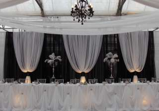 Professional Wedding Backdrop Kit w/Pipe, Drape & Valence: 3 PANEL 6