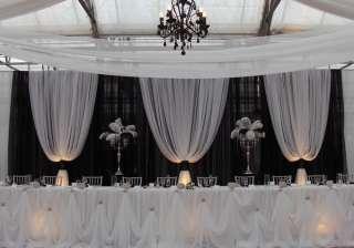 Professional Wedding Backdrop Kit w/Pipe, Drape & Valence: 3 PANEL 6