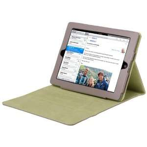 CE Compass iPad 2 Biege Leather Magnetic Smart Cover Case
