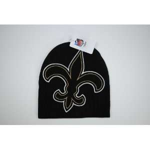 New Orleans Saints Black Big Logo Beanie Cap Winter Hat