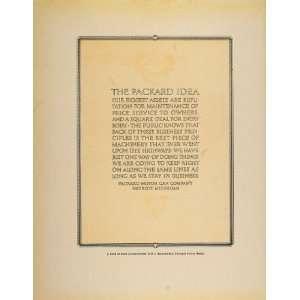 Motor Car Company Idea Automobile   Original Print