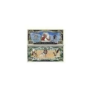 Novelty & Fake Money Pope John Paul Ii Commemorative Bill