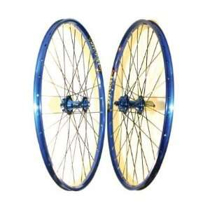 Sun Equalizer MTB Wheel Set   26 x 1.75, Blue Rim