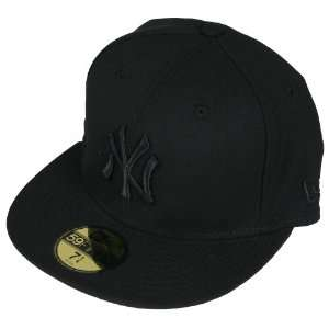 New Era Cap Fitted New York Yankees All Black Sports