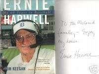DETROIT TIGERS ERNIE HARWELL AUTOGRAPHED BOOK MY 60 YRS