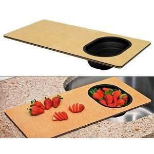 Epicurean Cutting Board   w/Colander Kitchen & Dining