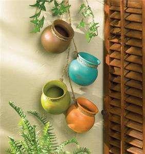 Hanging Clay MINI HERB Plant Pot Planter wall decor SET