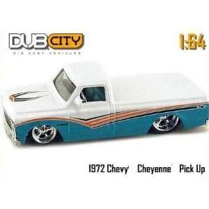 Dub City Green & White 1972 Chevy Cheyenne 164 Scale Die Cast Truck