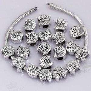 20x Tibetan Silver GOOD LUCK European Beads Fit Charms