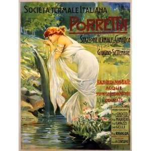 GIRL DRINKING WATER PORRETTA TRAVEL TOURISM EUROPE ITALY ITALIA SMALL