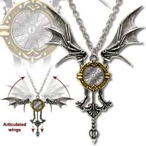 Icarus Ex Machina Mechanical Flight Gothic Necklace of Articulated